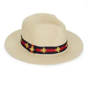 Vince Camuto Bee Ribbon Panama/Fedora Hat